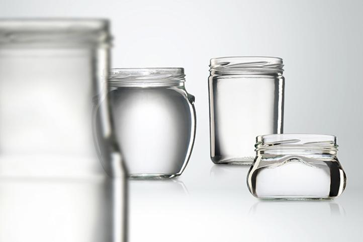 Glass jars for meat and fish